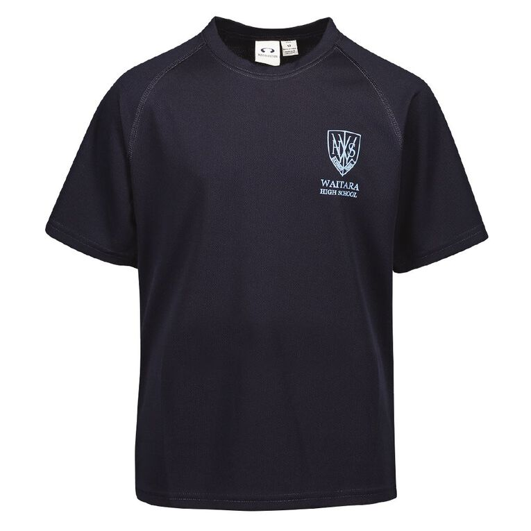 Schooltex Waitara High School Tee with Screenprint, Navy, hi-res