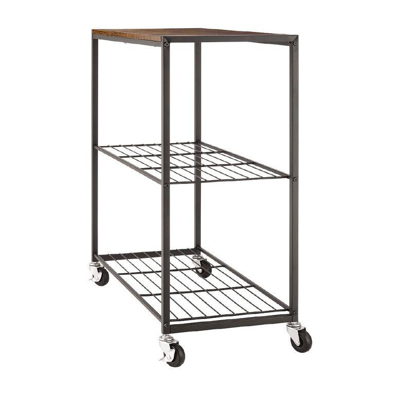Modern Industrial 3-Tier Storage Shelf, , hi-res