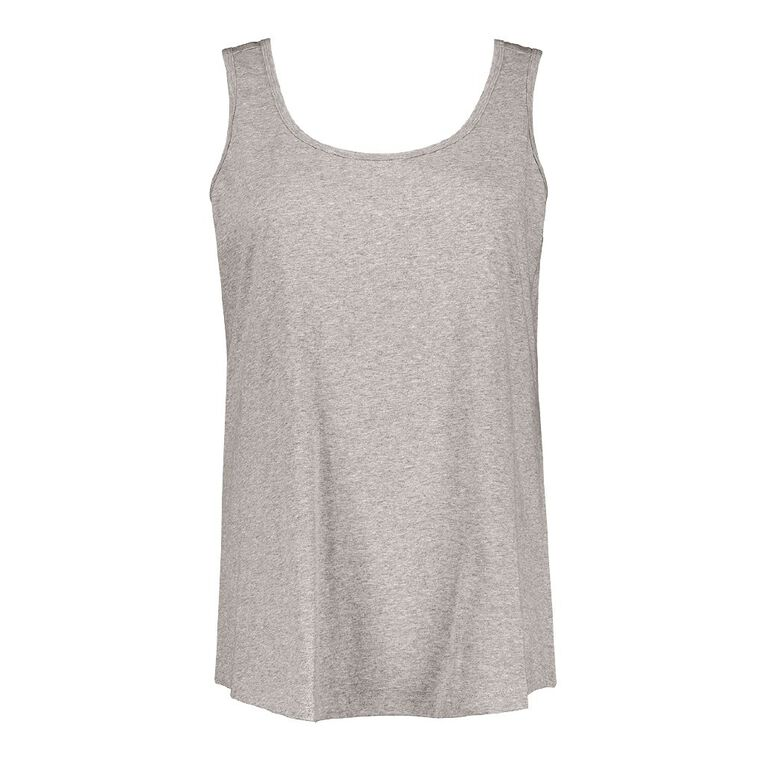H&H Plus Women's Knit Tank, Grey Marle, hi-res