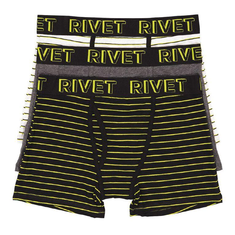 Rivet Men's Stripe Trunks 3 Pack, Yellow Dark, hi-res