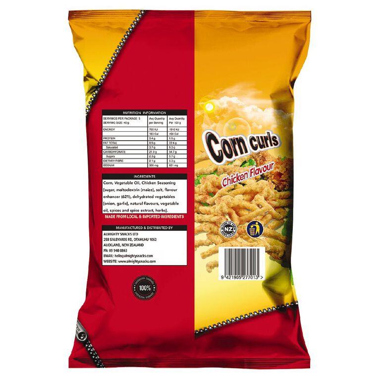 Corn Curls Chicken Flavour 200g, , hi-res
