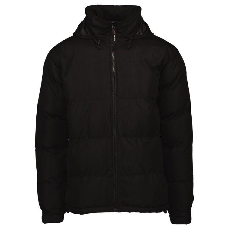 Schooltex Puffer Jacket, Black, hi-res
