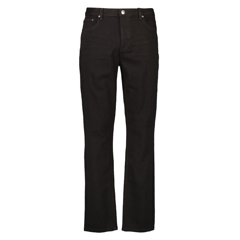 H&H Men's Straight Jeans, Black, hi-res