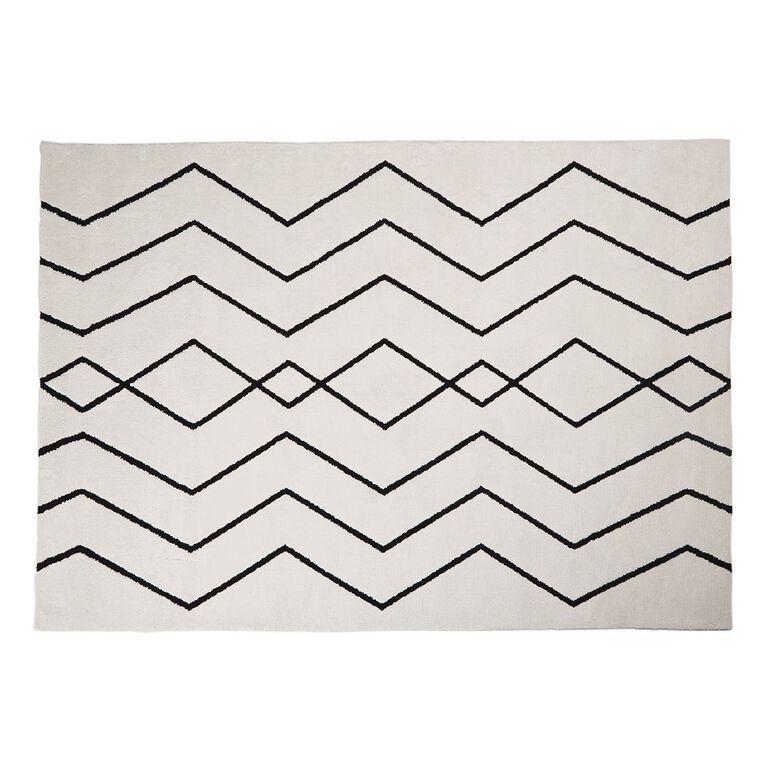 Living & Co Malmo Area Rug White 160cm x 230cm, White, hi-res