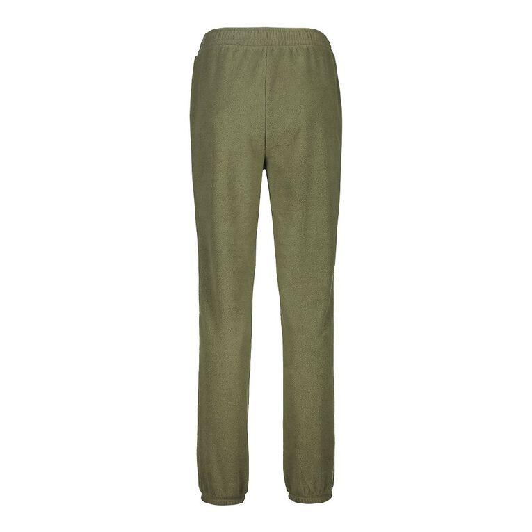 H&H Women's Microfleece Trackpants, Green Mid, hi-res