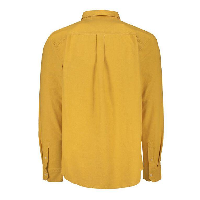 H&H Men's Long Sleeve Classic Oxford Shirt, Yellow, hi-res