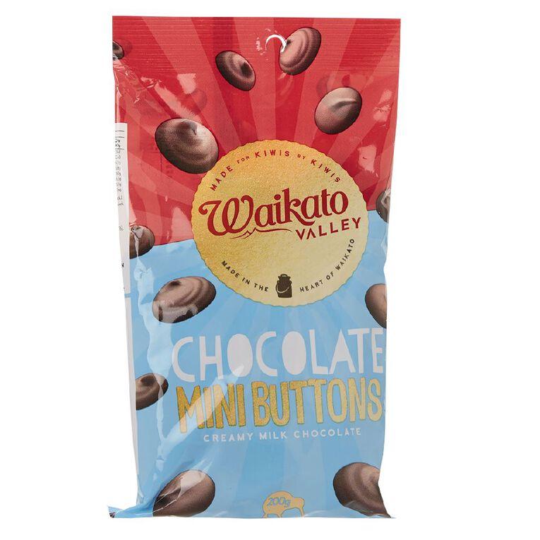 Waikato Valley Chocolates Milk Chocolate Mini Buttons 200g, , hi-res