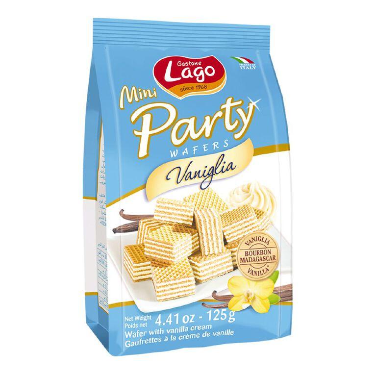 Lago Mini Party Wafers Vanilla 125g, , hi-res