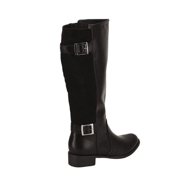 H&H Back Panel Riding Boots, Black, hi-res