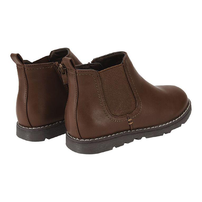 Young Original Kids' Rex Slide Boots, Brown, hi-res