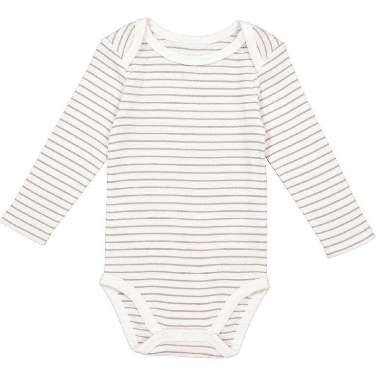 Young Original Baby Long Sleeve Bodysuit, White/ALLOY, hi-res