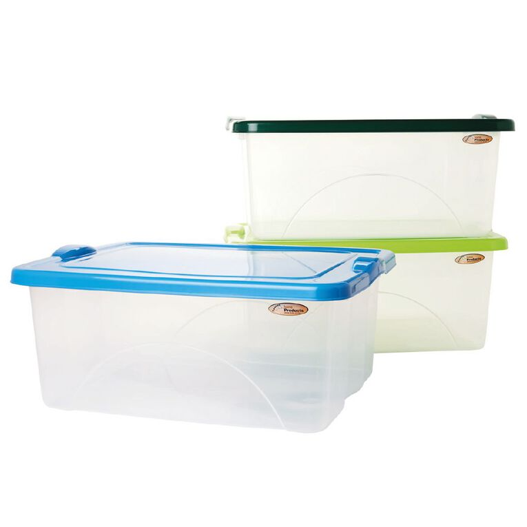 Taurus Clear View Storage Organiser with Lid Assorted 20L, , hi-res
