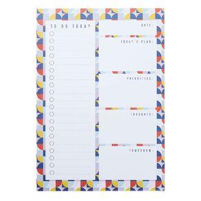 Uniti Geo Desk Planner Multi-Coloured A4