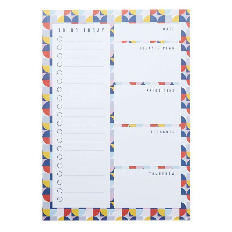 Uniti Geo Desk Planner Multi-Coloured A4, , hi-res