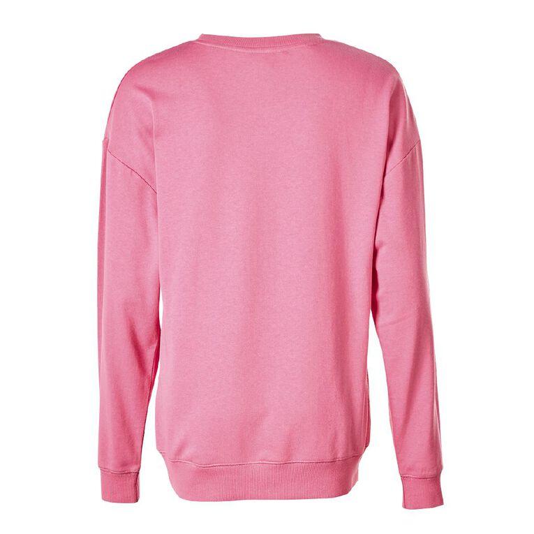 Little Miss Women's Lounge Sweatshirt, Pink, hi-res