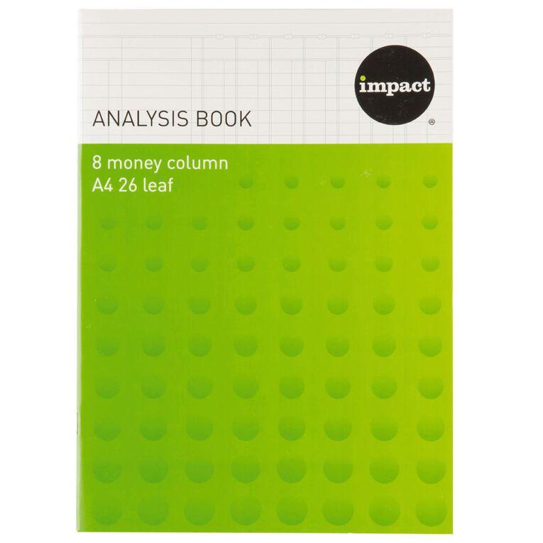 Impact Analysis Book 8 Column Blue A4, , hi-res