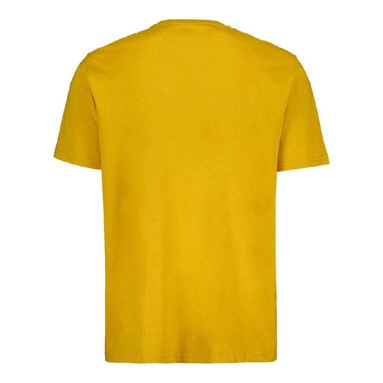 H&H Men's Crew Neck Short Sleeve Plain Tee, Yellow Dark, hi-res