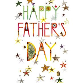 John Sands Father's Day Card Lettering on Stars Background