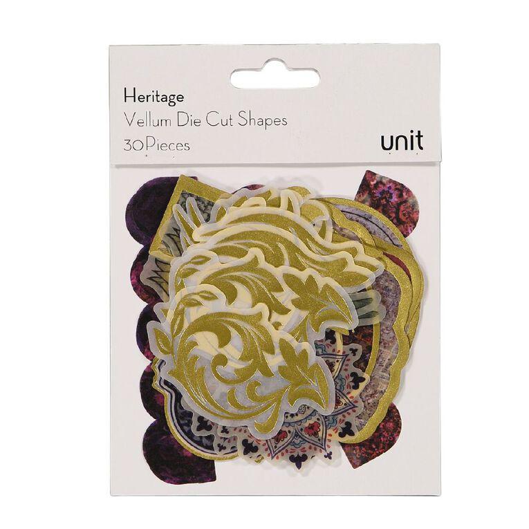 Uniti Heritage Vellum Die Cut Shapes 30 Pieces, , hi-res