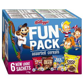 Kelloggs Fun Pack Sachets Cereal 170g