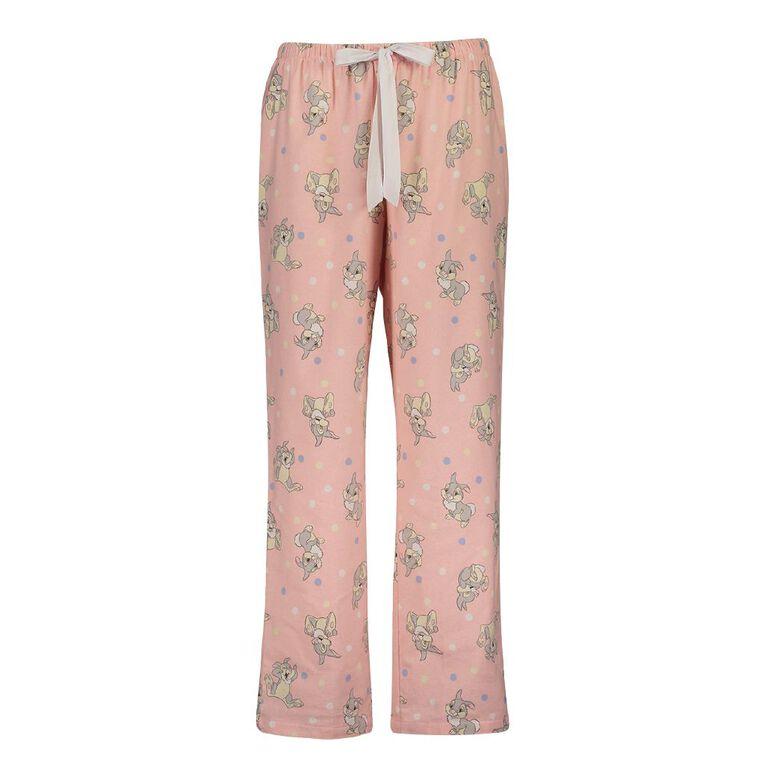 Disney Thumper Women's Flannalette Pyjama Pants, Pink, hi-res