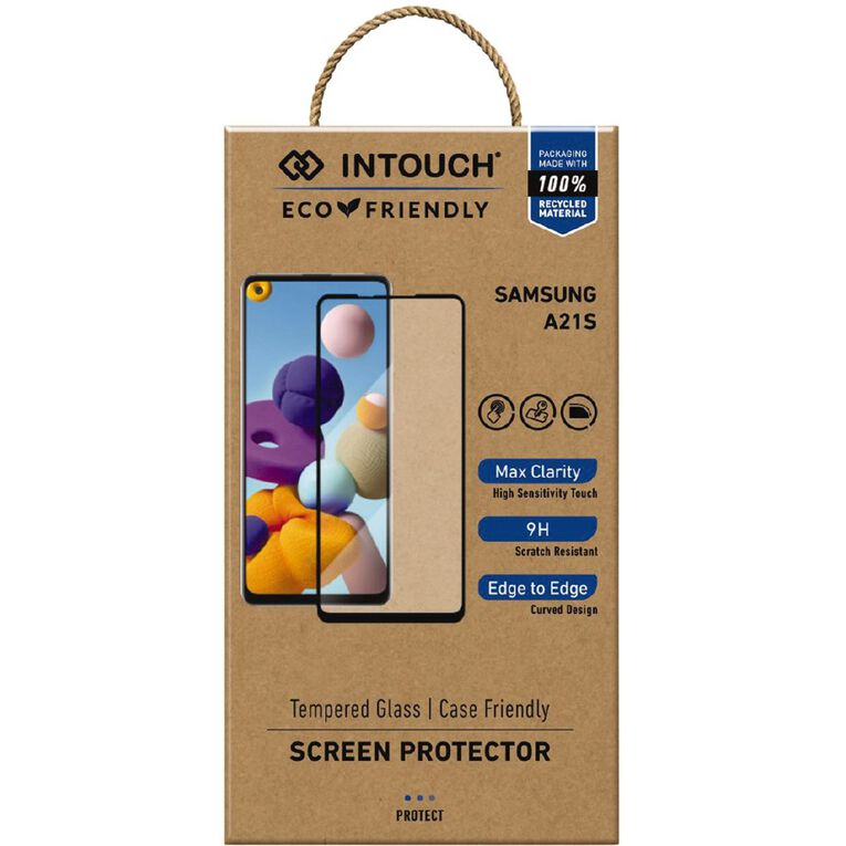 INTOUCH Samsung A21s Glass Screen Protector Clear, , hi-res