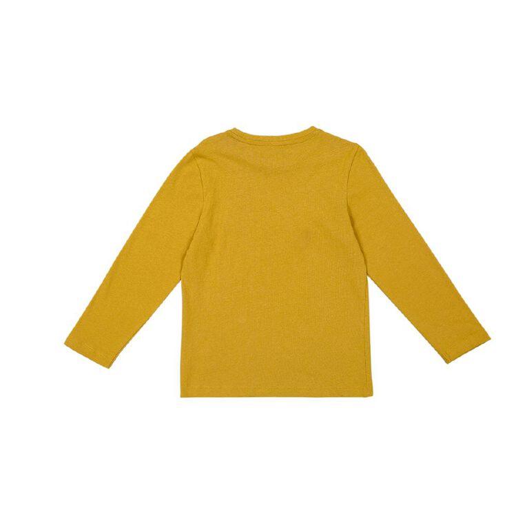 Young Original Long Sleeve Print Tee, Yellow Dark LET'S RIDE, hi-res