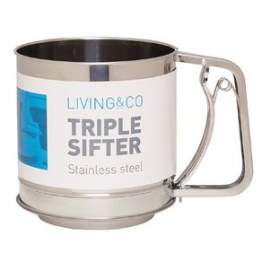 Living & Co Stainless Steel Triple Sifter