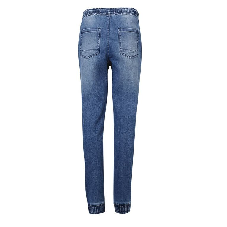 Young Original Knee Panel Jeans, Blue Dark, hi-res