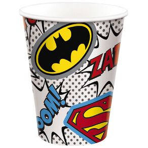 Justice League Heroes Unite Cups 266ml 8 Pack