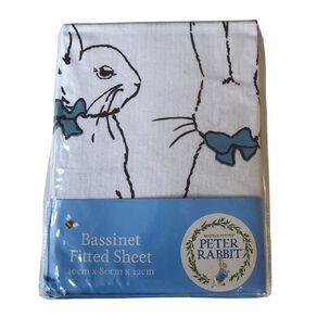 Peter Rabbit Cotton Bassinet Sheet 1 Pack