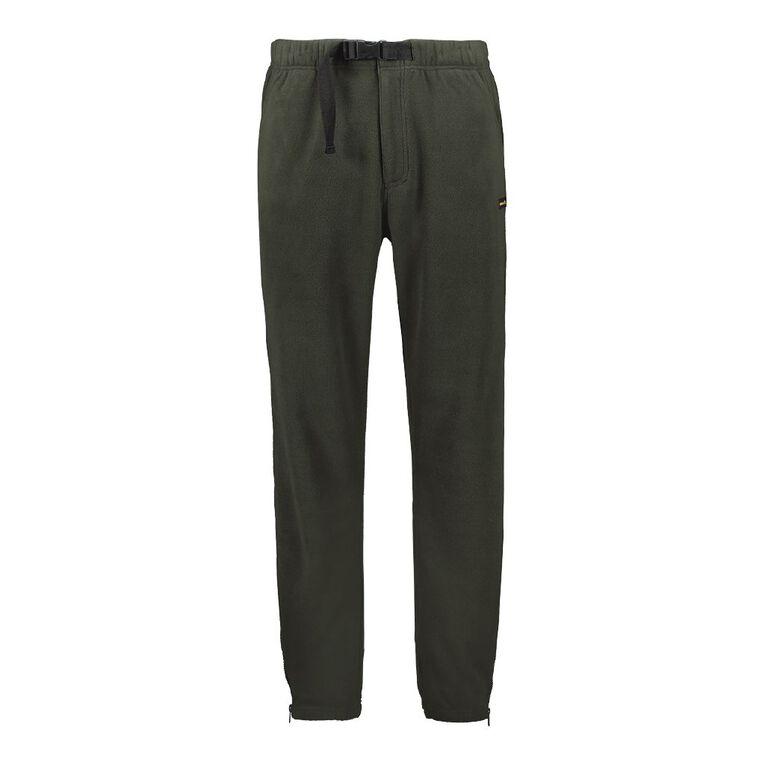 Back Country Men's Plain Fleece Pants, Green Dark, hi-res