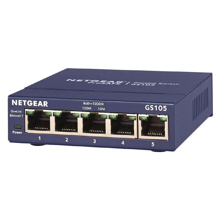 Netgear GS105 ProSafe 5-port Gigabit Switch, , hi-res