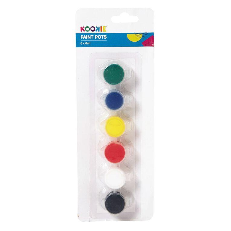 Kookie Paint Pots Standard 6ml 6 Pack, , hi-res