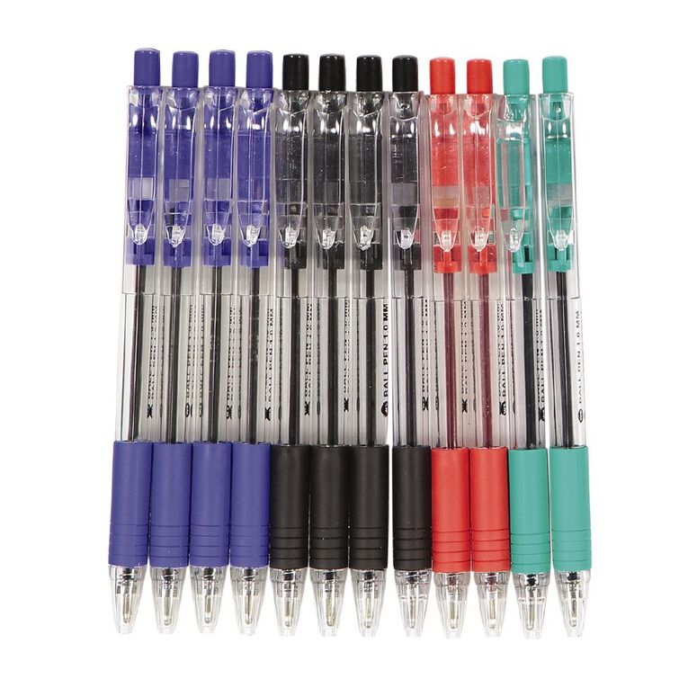 WS Ball Pens Sprint Grip Assorted 12 Pack, , hi-res