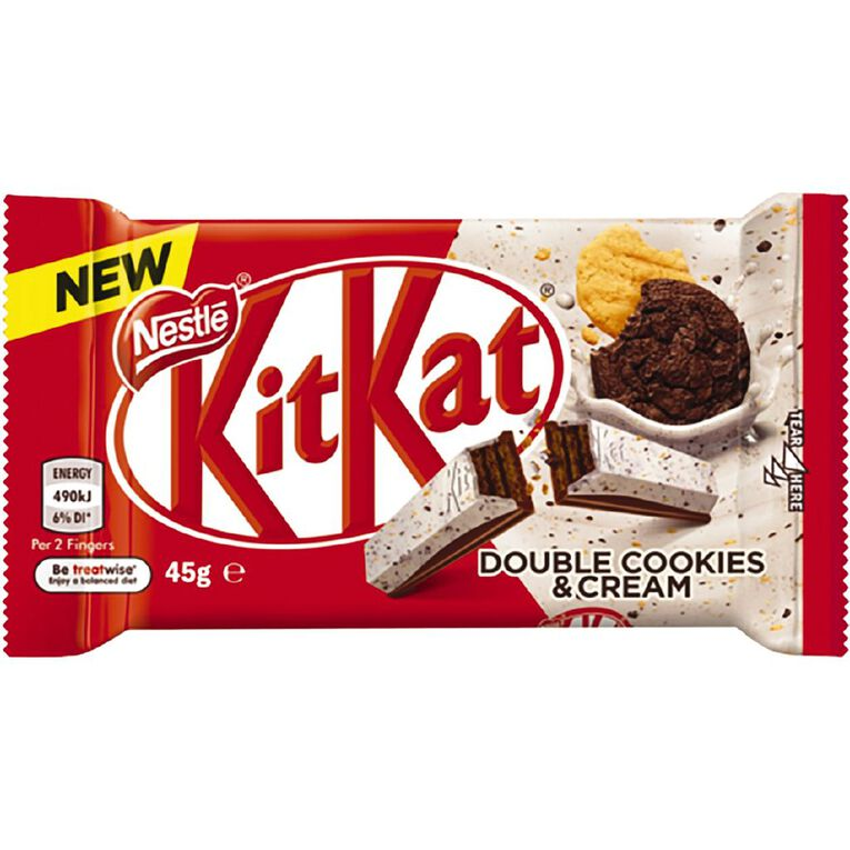 KitKat Double Cookies & Cream Bar 45g, , hi-res