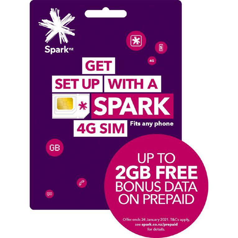 Spark Prepaid Sim 3-in-1 Purple, , hi-res