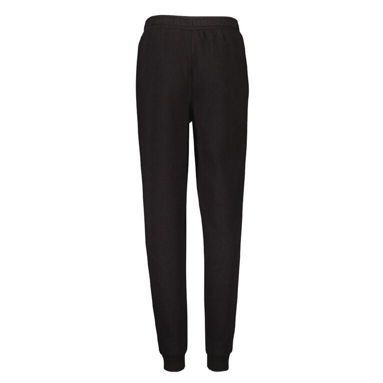 Young Original Plain Rib Cuff Trackpants, Black, hi-res image number null