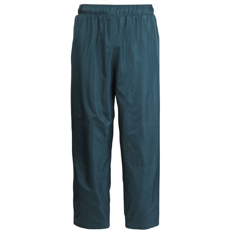 Schooltex Straight Leg Pongee Trackpants, Bottle Green, hi-res