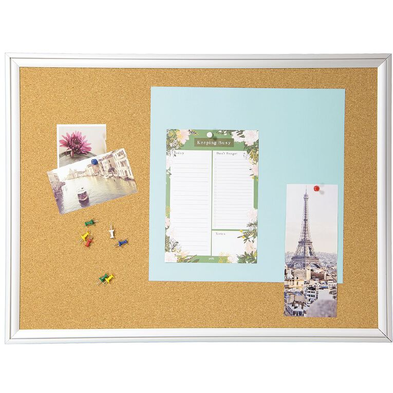 WS Alu Frame Cork Board 450 x 600mm, , hi-res