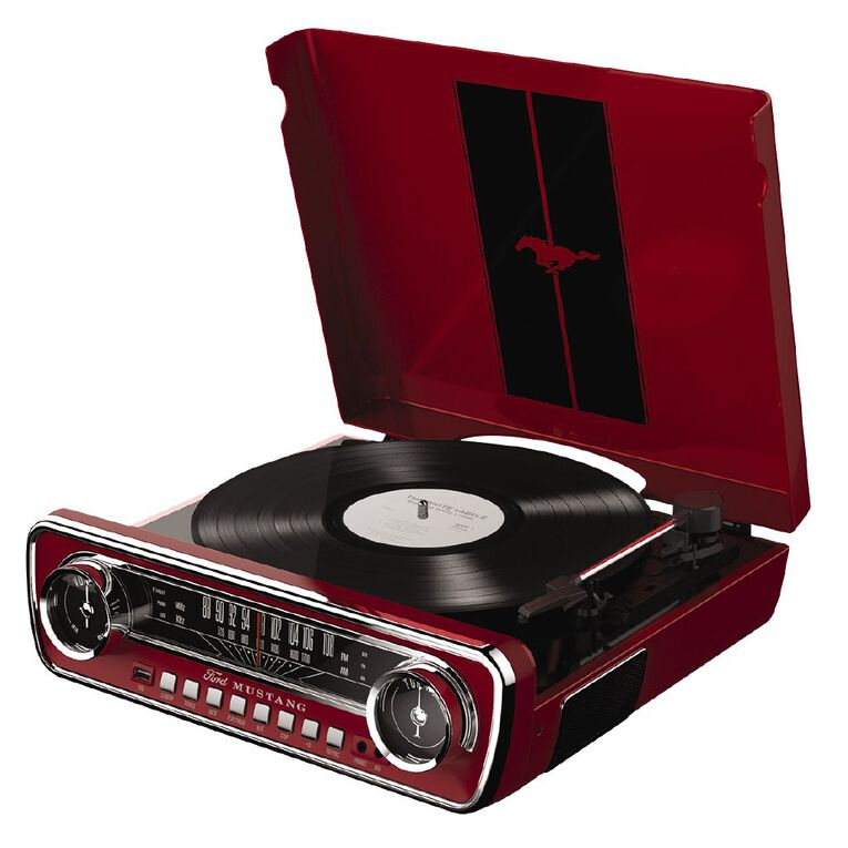 ION Mustang LP Turntable Red, , hi-res