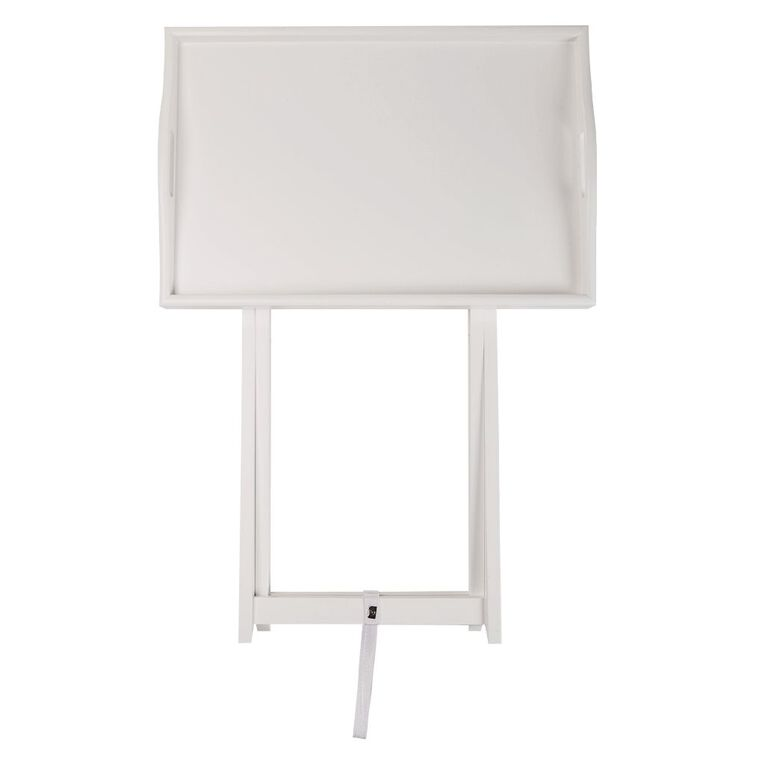 Living & Co Butler Tray Side Table White, , hi-res