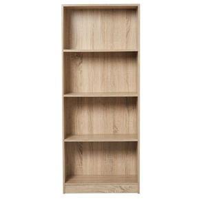 Living & Co Mason Bookcase 4 Tier Oak Look