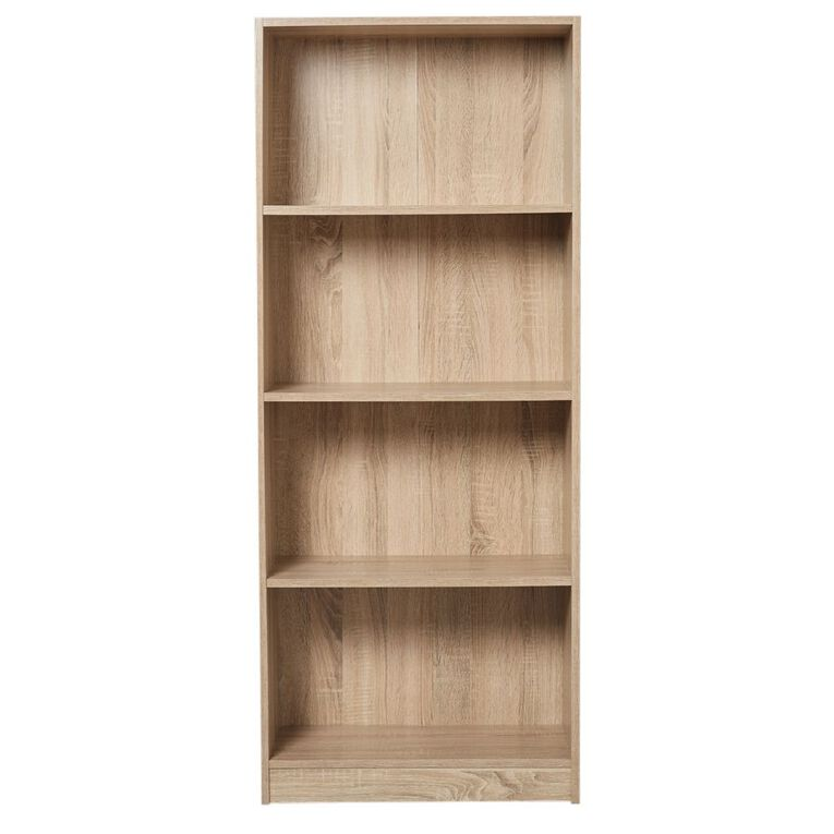 Living & Co Mason Bookcase 4 Tier Oak Look, , hi-res