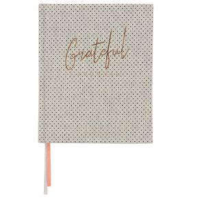 Uniti Grateful Journal Fabric Light Grey 160mm X 197mm Light Grey