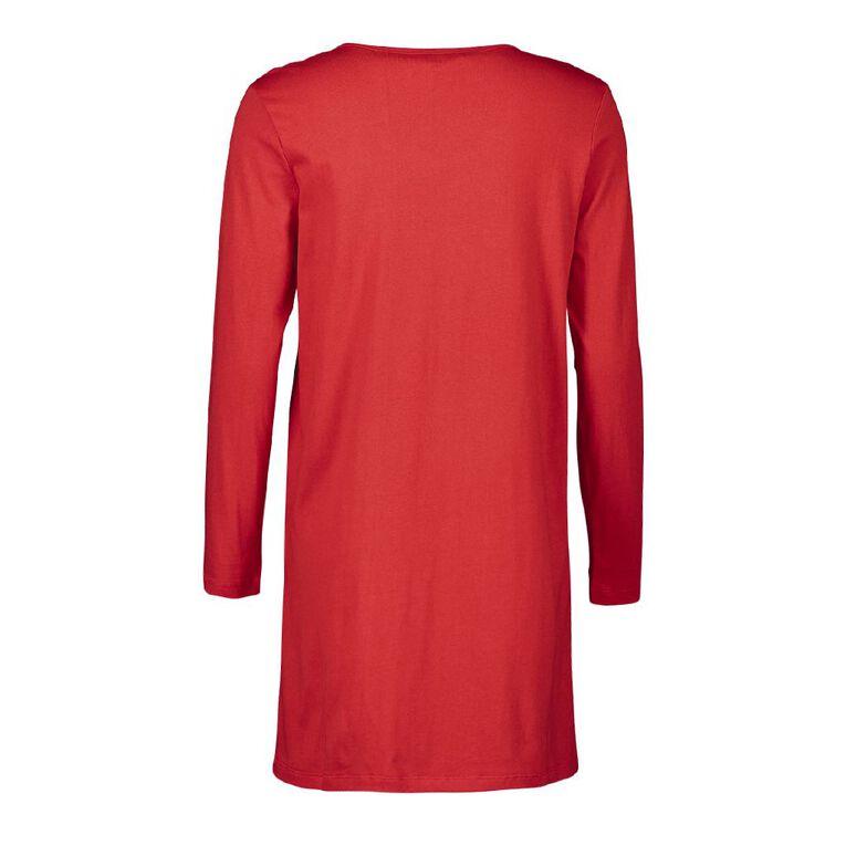 101 Dalmatians Disney Women's Long Sleeves Nightie, Red, hi-res