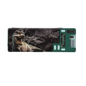Kookie Rawr Pencil Case Pop Out Novelty Dino Green Dark