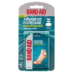 Band Aid Advanced Footcare Assorted 5 Pack