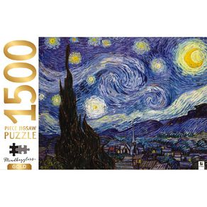Hinkler Mindbogglers Gold 1500 Piece Puzzle Starry Night by Van Gogh