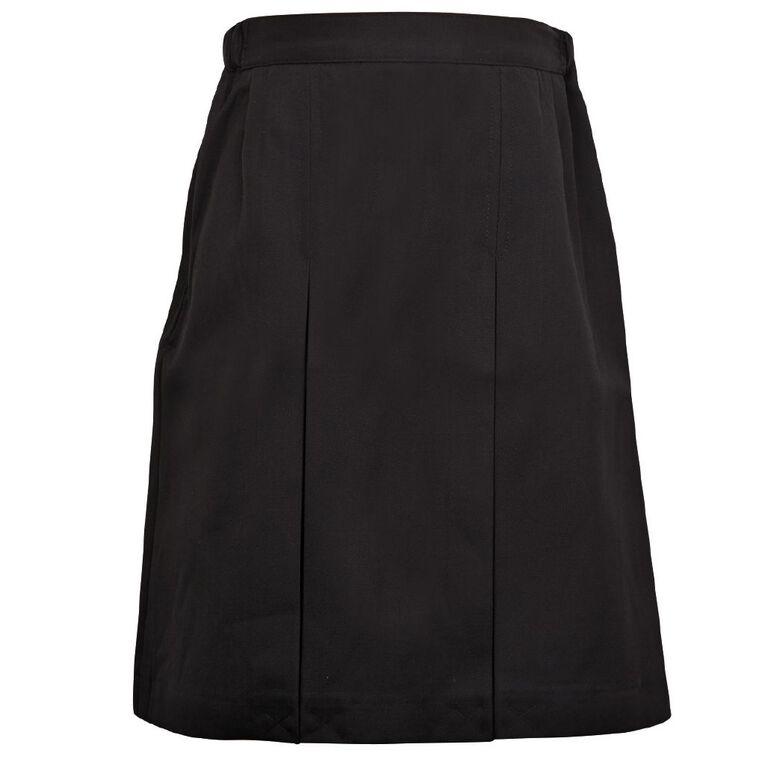 Schooltex Inverted Pleat Skirt, Black, hi-res
